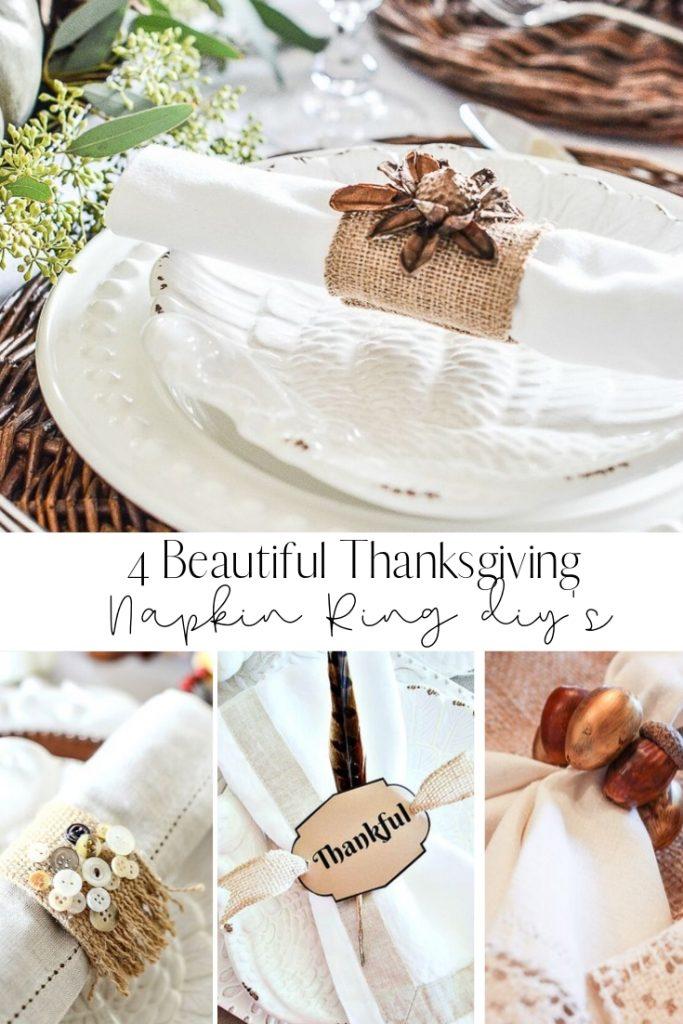 4 Easy Thanksgiving Napkin Ring Diy S Stonegable