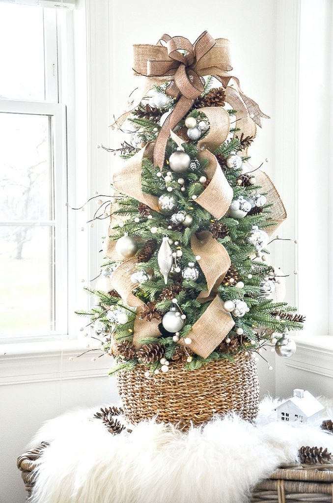 table top tree decorated woodland style