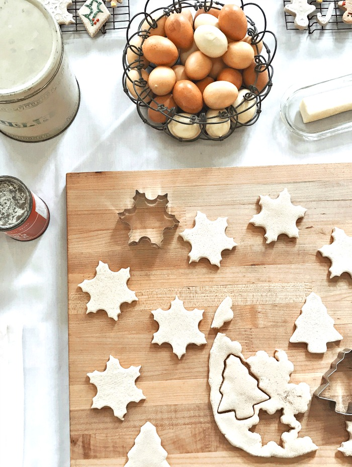 cutting out Christmas cookies on the menu this week