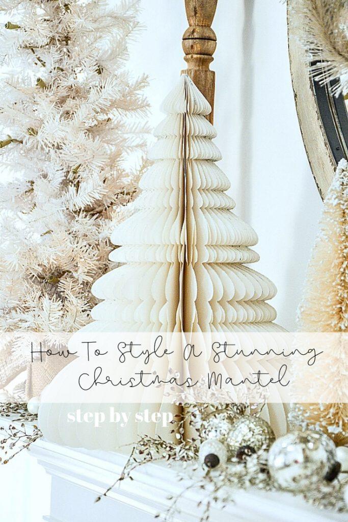 white 3D paper tree