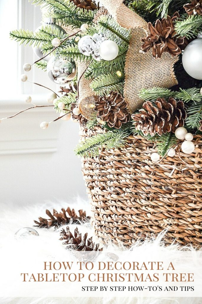 How To Decorate A Tabletop Christmas Tree Like A Designer Stonegable