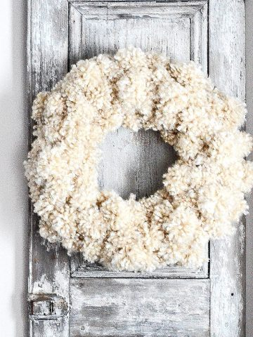 A TRIO OF WOOLY WINTER WREATH DIY'S