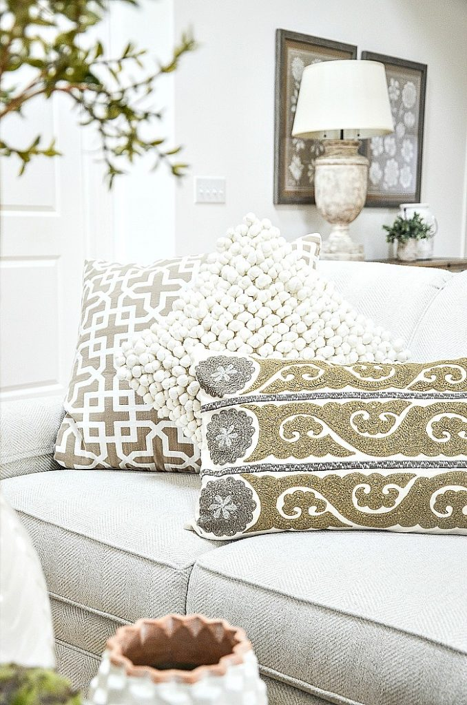trio of neutral pillows