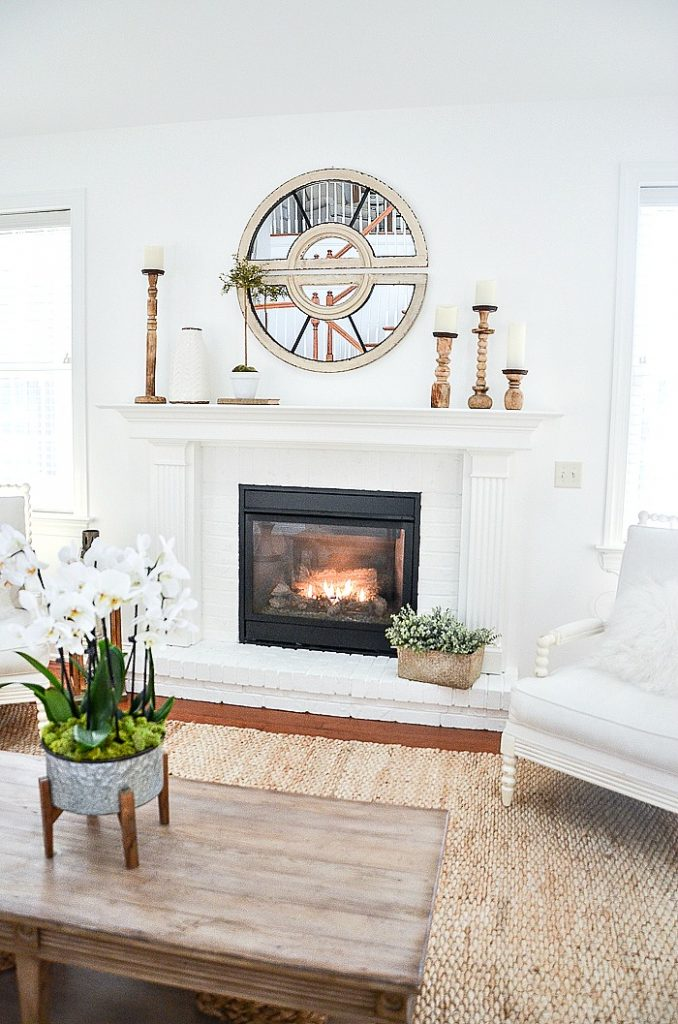 fireplace in the mantel