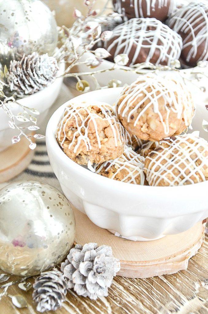 bowl of no-bake cookies