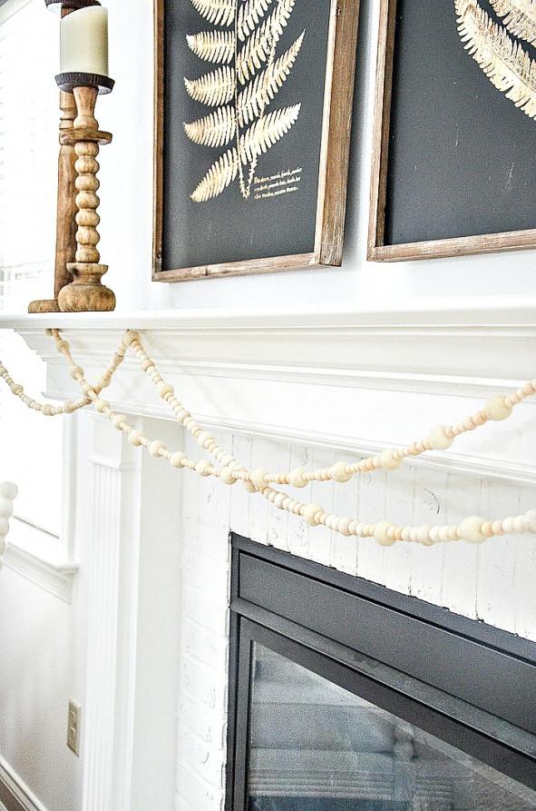 beautiful white mantel