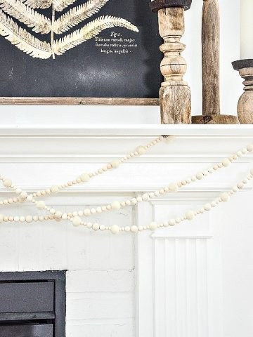 WINTER BEAD AND WOOL BALL GARLAND