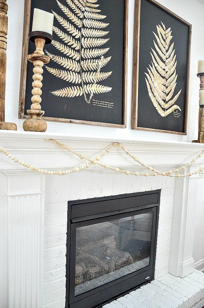 Winter Bead And Wool Ball Garland Stonegable