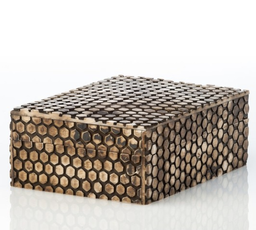 beautiful faux snake skin decorative box