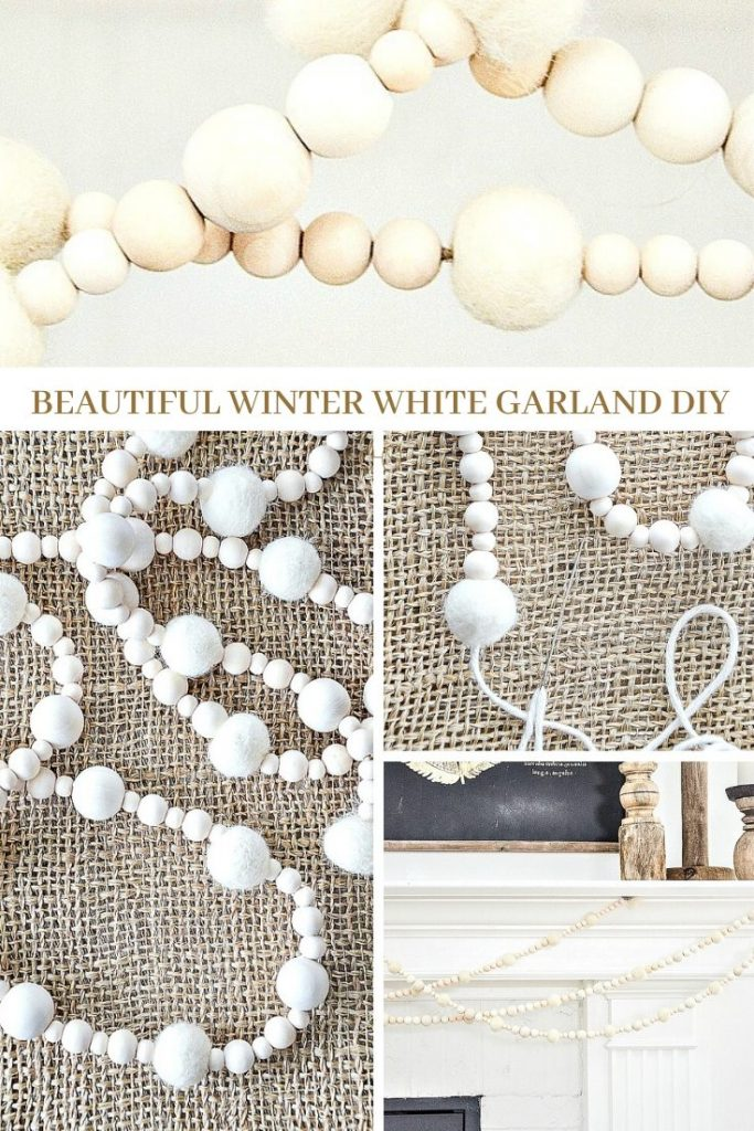 pretty winter white garland