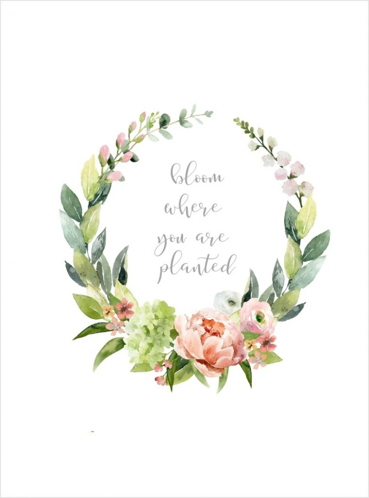 WREATH WITH SPRING SAYING INSIDE IT FREE PRINTABLE
