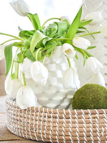 DECORATING WITH BASKETS 5 EASY WAYS