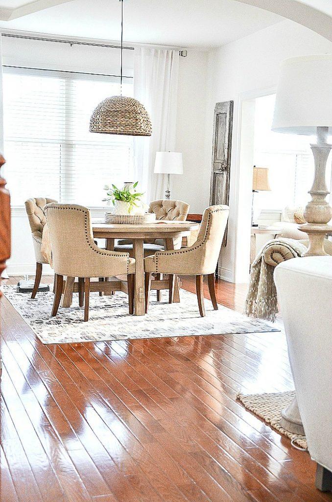 modern downsized dining room