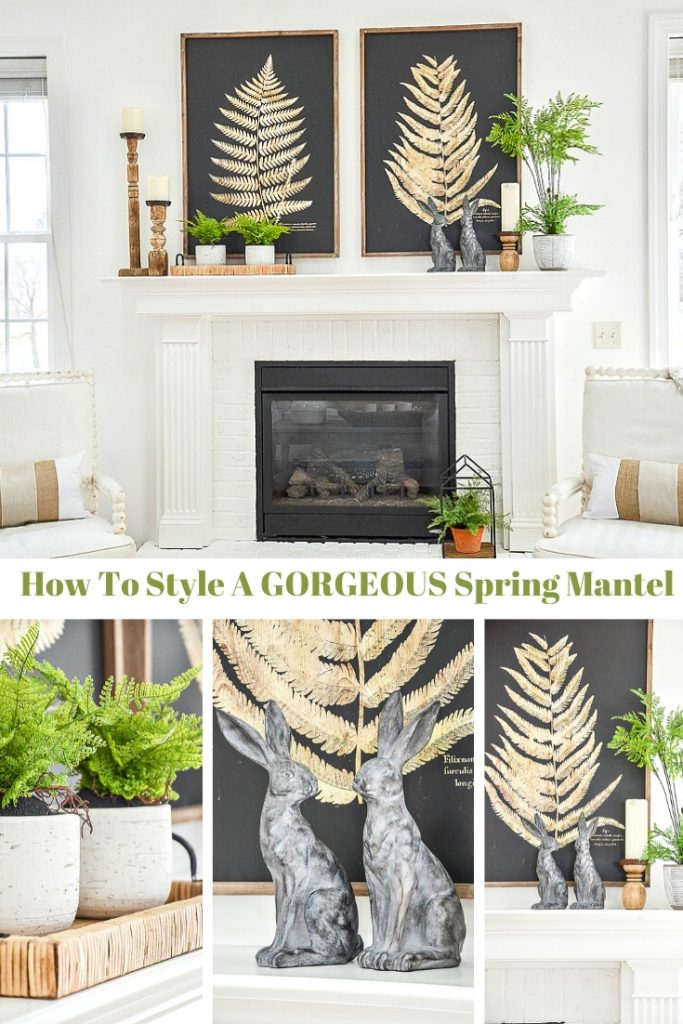COLLAGE OF A SPRING MANTEL