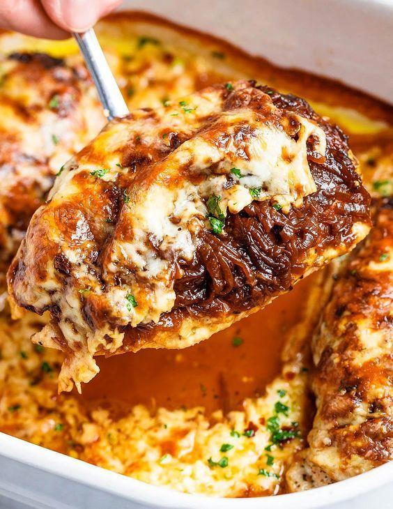 chicken french onion dish