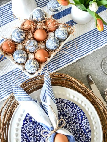 SIMPLY PRETTY EASTER TABLE FOR FOUR