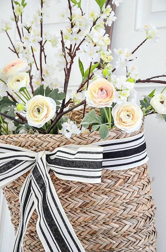PRETTY FLOWERS IN A BASKET