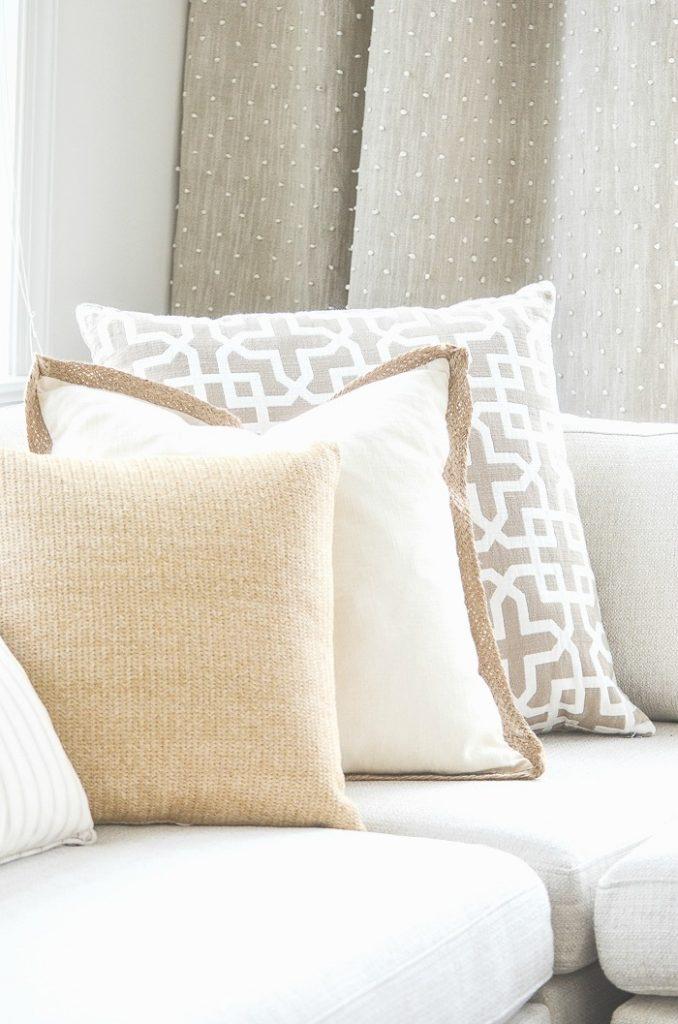 pretty trio of neutral pillows