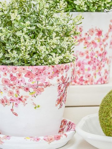 BEAUTIFUL TORN TISSUE DIY PLANTER