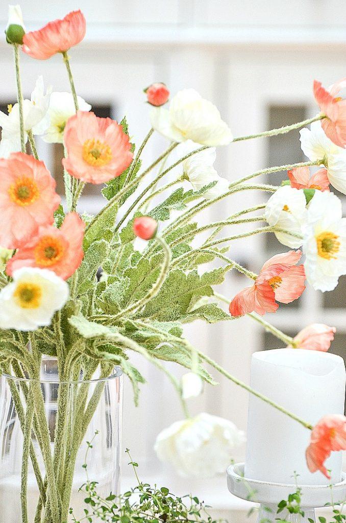 BEAUTIFUL FAUX FLOWERS IN A VASE