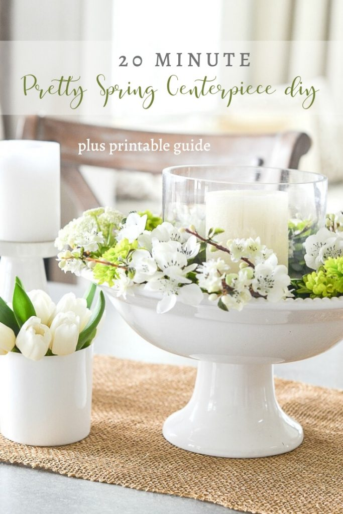CENTERPIECE OF WHITE AND GREEN FLOWERS