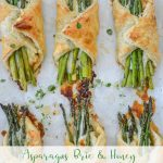 asparagus bundles on a baking sheet