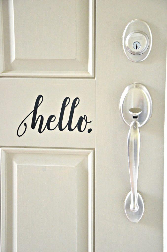 HELLO ON THE FRONT DOOR