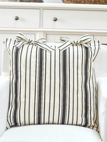 NO-SEW RIBBON PILLOW COVER