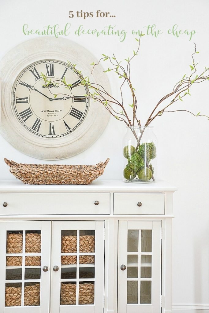 BUFFET WITH INEXPENSIVE BRANCHES ON IT