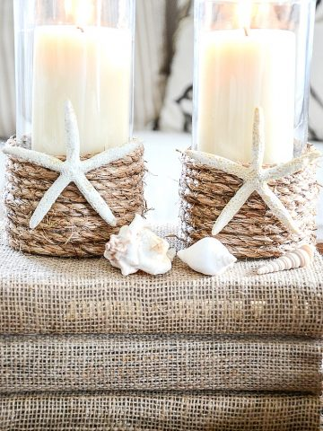 ROPE WRAPPED CANDLE DIY