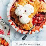 Strawberry shortcake with ice cream