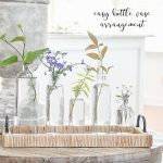 BOTTLE VASES WITH SUMMER BLOOMS