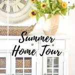White buffet on a summer home tour