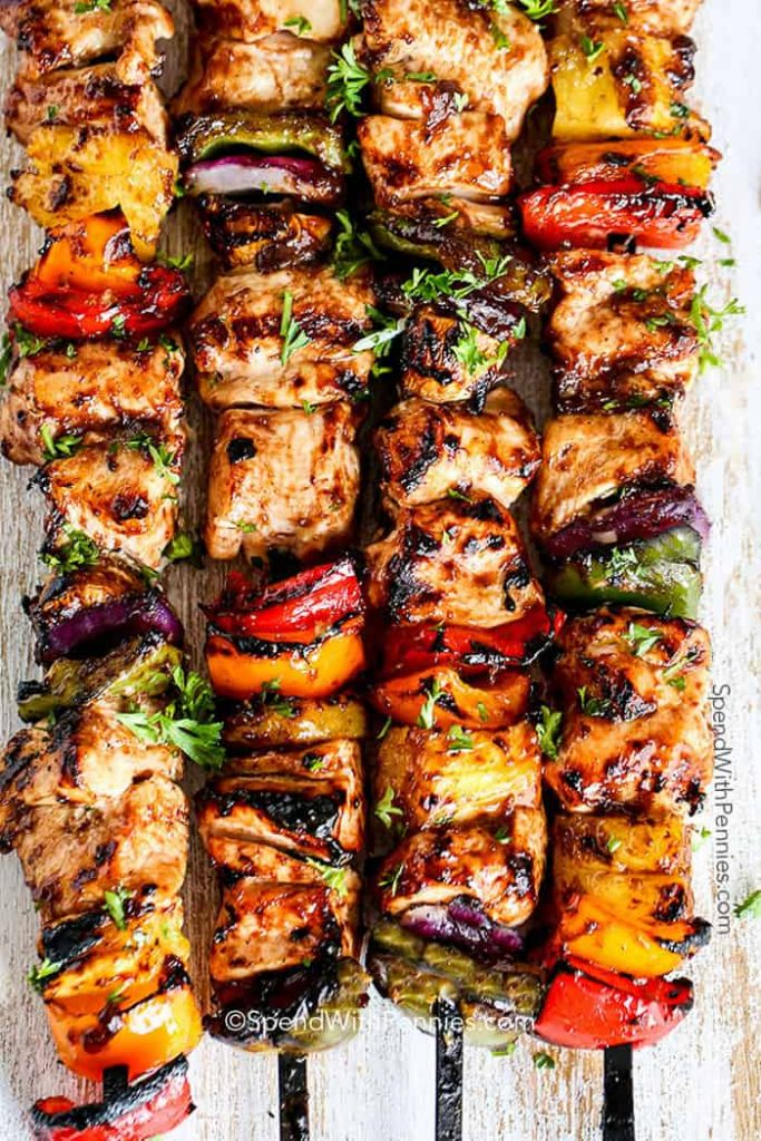 COOKED COOKED CHICKEN KABOB ON THE MENU