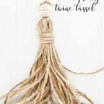 A PRETTY NEUTRAL COLOR TASSEL MAKE WITH TWINE
