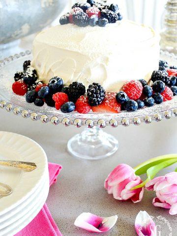PRETTY CAKE PEDESTAL DIY