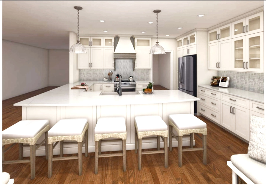 new white kitchen mock up