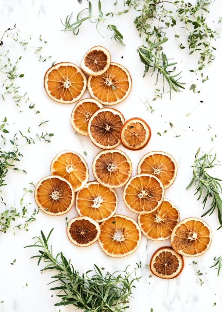 DRIED ORANGES AND HERBS TO MAKE HERB BUTTER