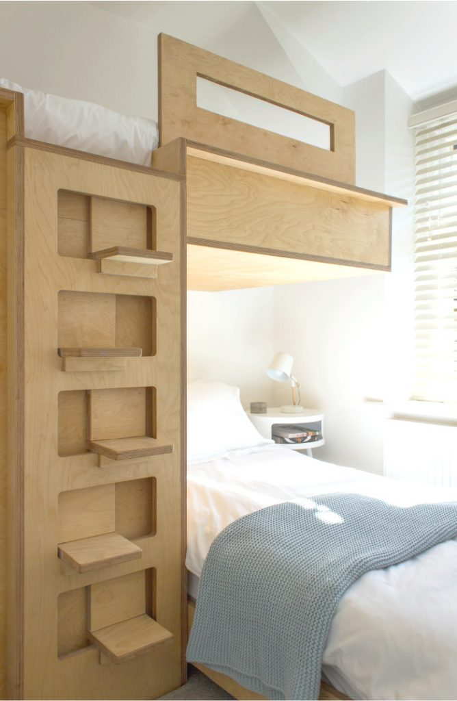 BED WITH LIGHT WOOD TONES ON TREND IN 2021