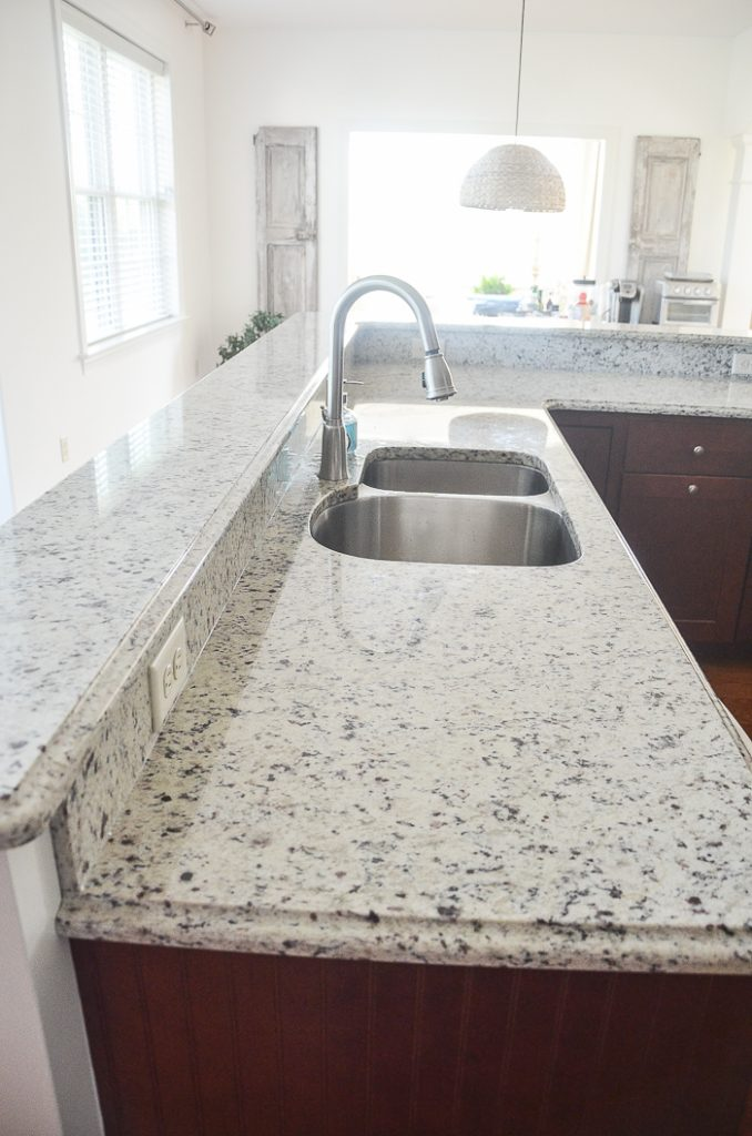 the before image in a kitchen renovation