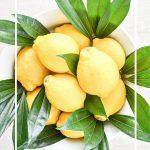 big white bowl of lemons