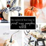 COLLAGE OF HOW TO PAINT AN ORANGE FAUX PUMPKIN WHITE