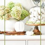 PIN OF WHITE PUMPKIN AND GREEN HYDRANGEAS VIGNETTE