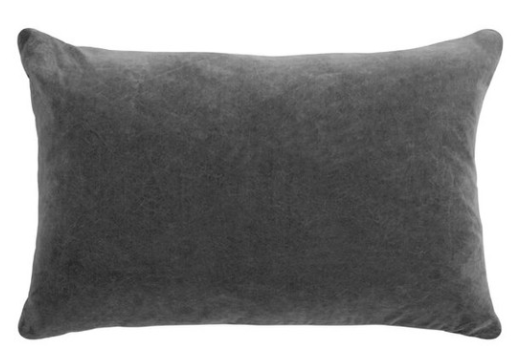 GRAY LUMBAR PILLOW