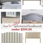 upholstered headboard collage