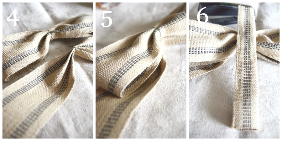 COLLAGE OF HOW TO MAKE A BOW