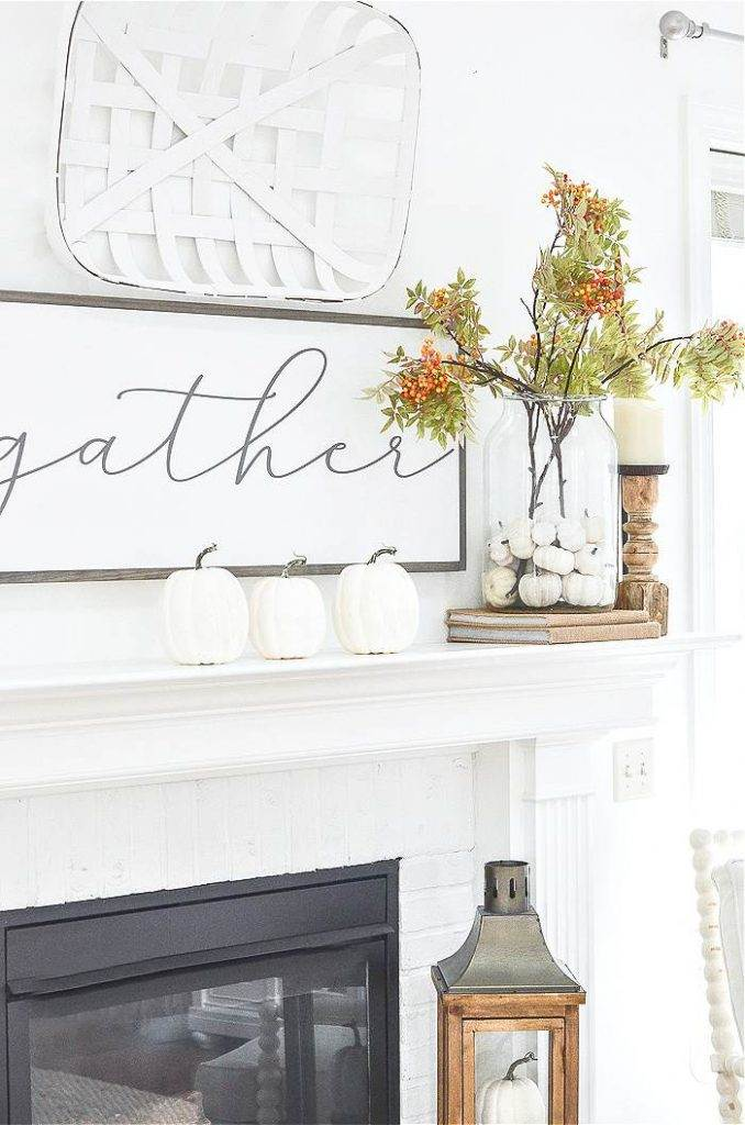 PRETTY  MANTEL IN A GREAT ROOM