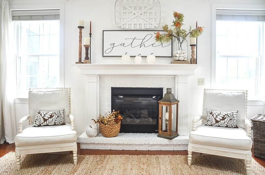 GREAT ROOM WITH A FALL MANTEL