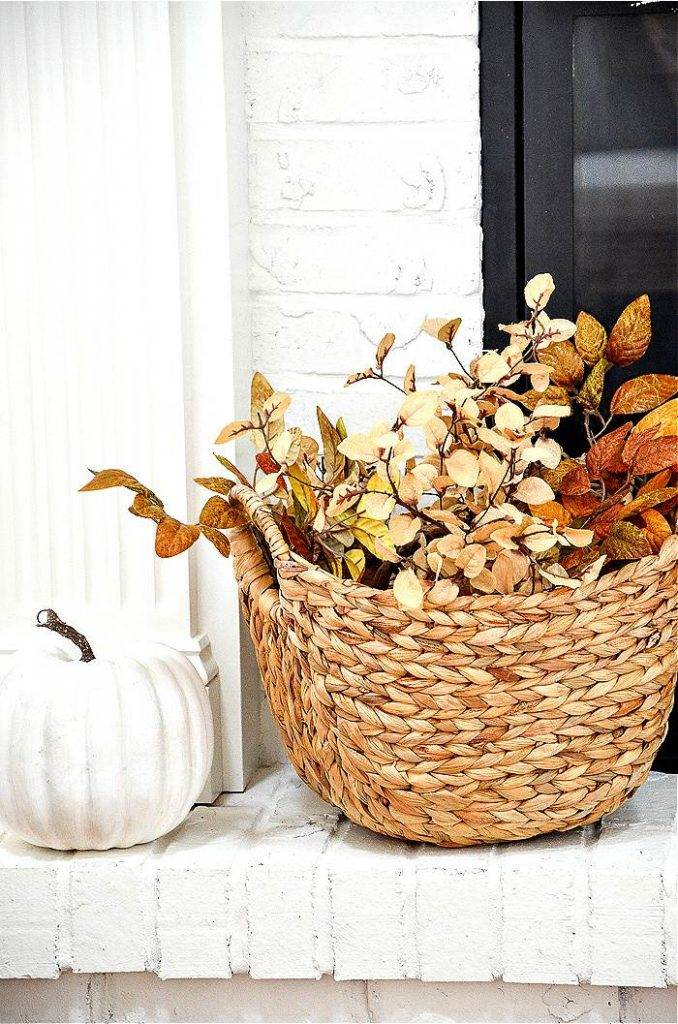 BASKET OF FALL LEAVES
