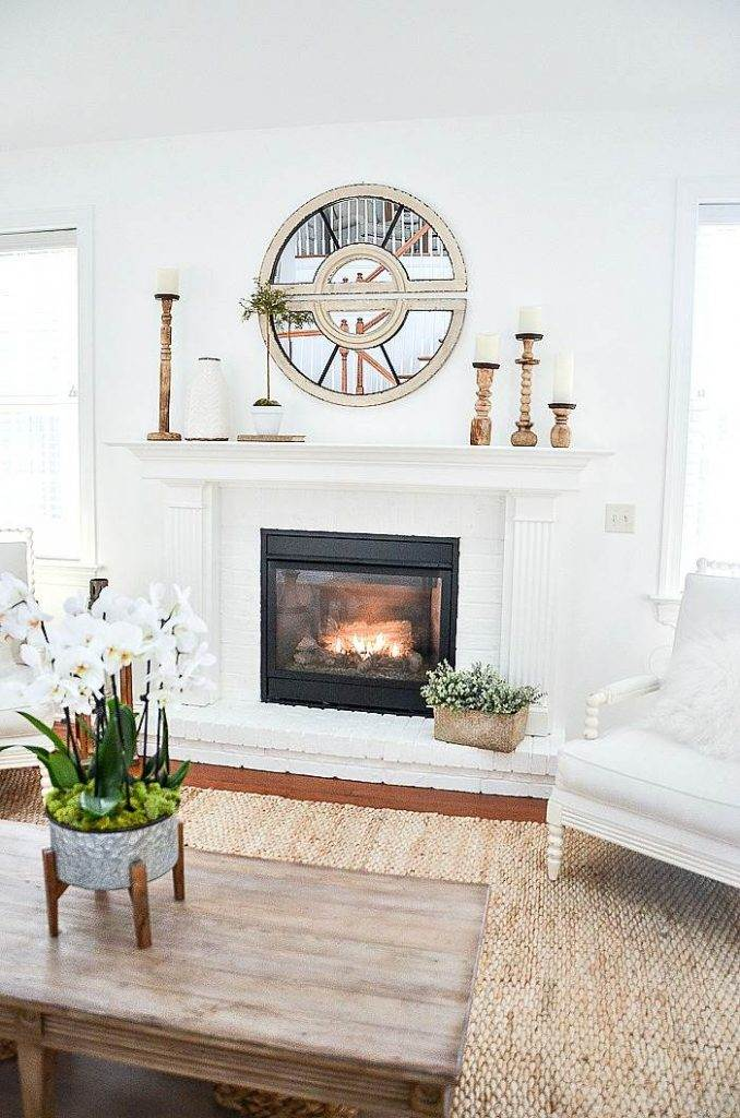 A NEWLY BUILT FIRE PLACE